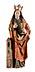 Detail images: Gotische Schnitzfigur der Heiligen Barbara