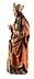 Details: Gotische Schnitzfigur der Heiligen Barbara