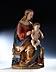 Detail images: Gotische Schnitzfigur einer thronenden Madonna mit dem Jesuskind