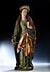 Details: Spätgotische Schnitzfigur der Heiligen Katharina