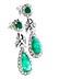 Detail images: Smaragd-Diamantohrhänger