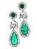 Details: Smaragd-Diamantohrhänger