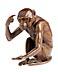 Details: Bronzefigur eines sitzenden Affen