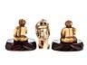 Details: Drei japanische Elfenbeinnetsuke