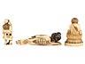 Detail images: Drei japanische Elfenbeinschnitzereien
