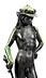 Detail images: Große Bronzefigur des David