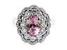 Details: Padparadscha-Saphir-Diamantring