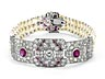 Details: Rubin-Diamant-Perlarmband