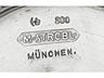 Details: Silberner Münchener Jugendstil-Tafelaufsatz