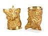 Detail images: Paar silbervergoldete Fuchskopfbecher