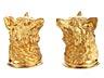 Details: Paar silbervergoldete Fuchskopfbecher