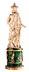 Detail images: Große russische Elfenbeinschnitzfigur auf einem Sockel in feuervergoldeter Bronze, belegt mit russischem Malachit