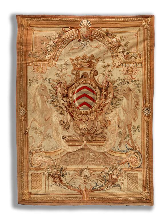 Seltener, außergewöhnlich schöner Wappen-Aubusson