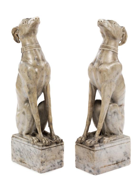 Paar Marmorhunde