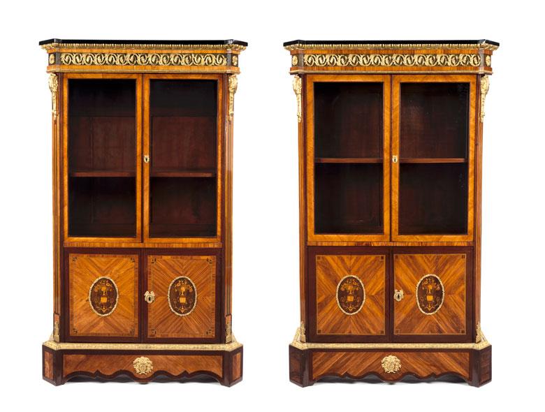 Paar Bibliotheksschränke im Louis XVI-Stil