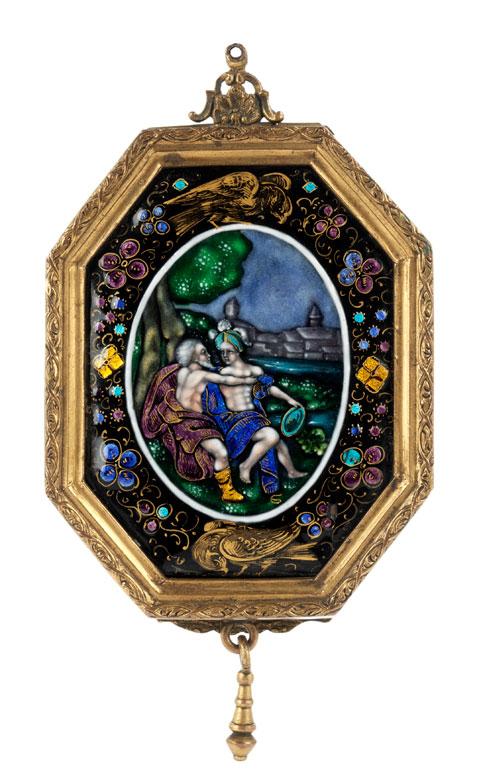 Hochfeine Limoges-Spiegelbox