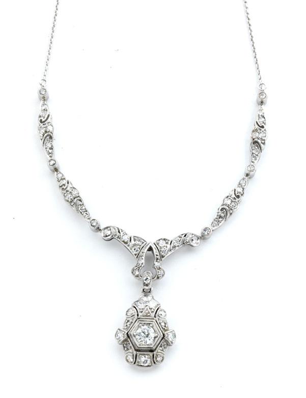 Art déco-Diamantcollierchen