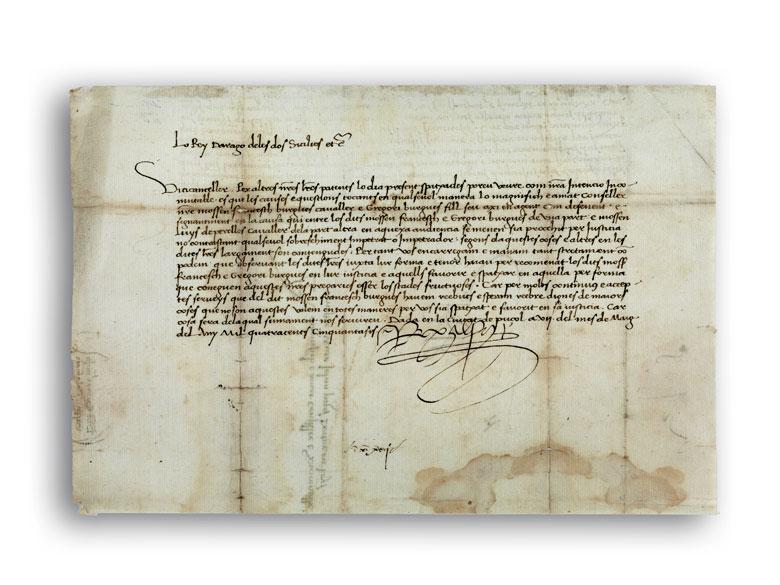 Urkunde Alfons V, 1396 – 1458