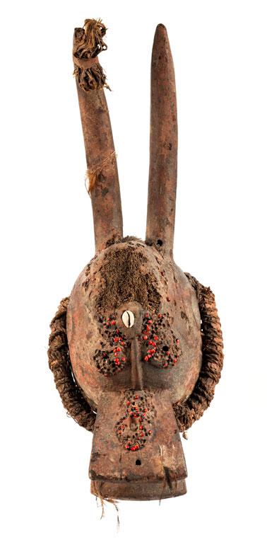 Aufsatzmaske mit Antilopenhörnern