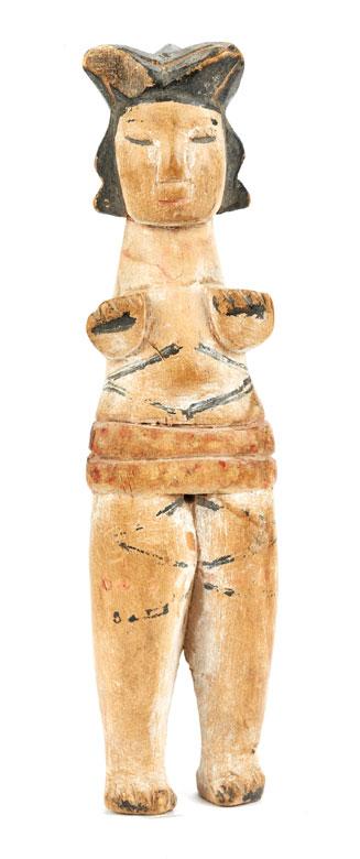 Puppe eines Mädchens mit Kinderwunsch