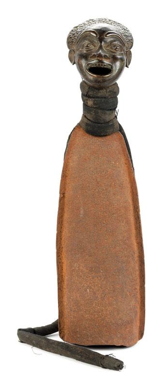 Eisenglocke mit Messingkopf