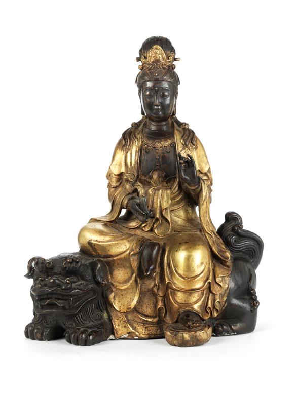 Chinesische Buddha-Figur in Bronze