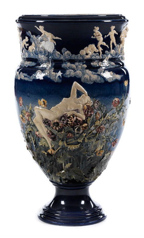 Große Vase von Louis-Robert Carrier-Belleuse (1848 – 1913)