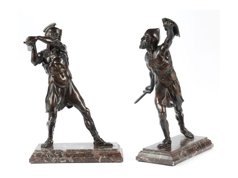 Ein Paar Bronzekrieger