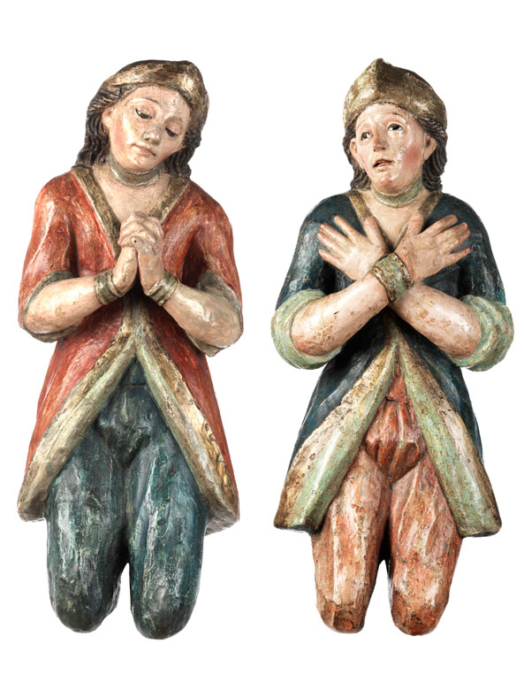 Paar Adoranzfiguren