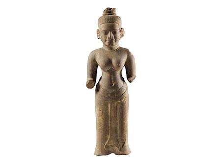 Khmer-Figur eines Vishnu