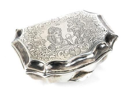 Barocke Silberdose