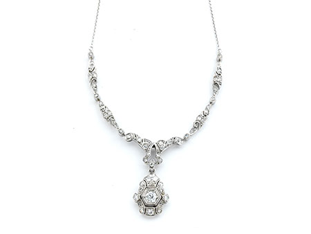 Detailabbildung: Art déco-Diamantcollierchen