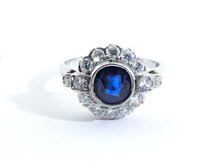 Detailabbildung: Saphir-Diamantring