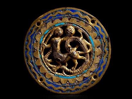 Frühes Limoges-Medaillon des 13. Jahrhunderts