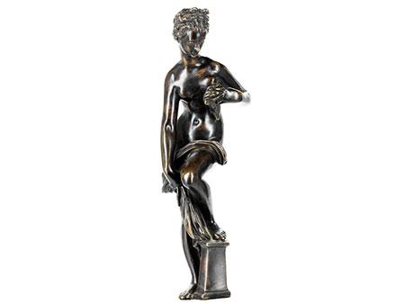 Bronzefigur Badende Venus , nach Modell von Giambologna (um 1529-1608)