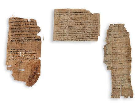 Drei Papyrus Handschriften