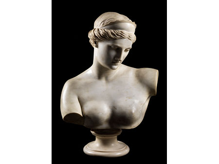 Marmorbüste einer römischen Göttin