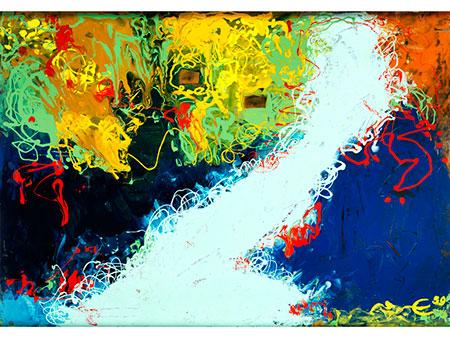 Abstrakter Maler des 20. Jahrhunderts