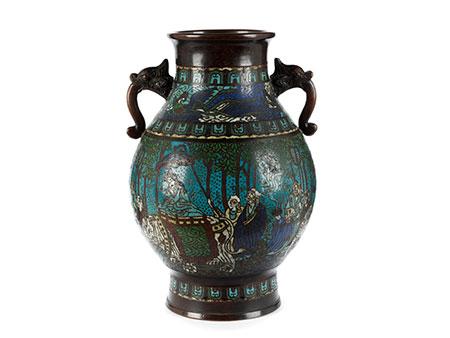 Japanische Cloisonné-Vase