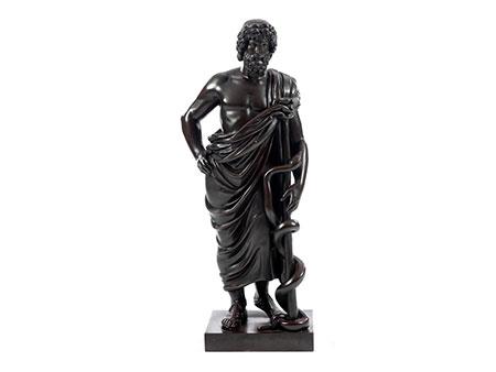 Bronzefigur des Asklepios, dem Gott der Heilkunst und der Ärzte