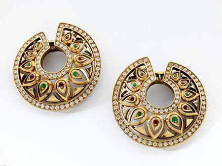 """Detailabbildung: Ohrringe """"Tandjore"""" von Cartier"""