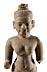 Details: Khmer-Figur eines Vishnu