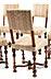 Details: Satz von sechs Stühlen