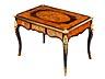 Details: Bureau plat im Louis XV-Stil