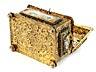 Details: Barockes Vermeil-Kästchen mit Email-Dekor