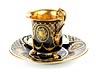 Details: Porzellantasse mit Portrait Friedrichs des Großen