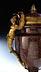 Details: Höchst qualitätvolle Prunk-Ziervase in Porphyr mit feuervergoldeten Applikationen