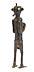 Details: Bronzefigur der Ibo-Schmiede