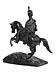 Details: Große Reiterstatue in Bronze eines europäischen Königs in Husarenuniform
