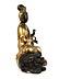 Details: Chinesische Buddha-Figur in Bronze